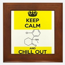 Keep Calm and Chill Out Ketamine Framed Tile