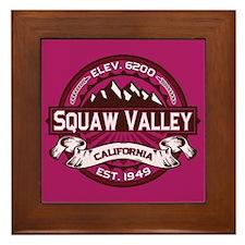 Squaw Valley Raspberry Framed Tile