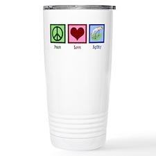 Peace Love Agility Travel Coffee Mug