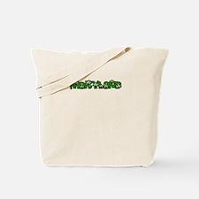MARYLAND IN MARIJUANA FONT Tote Bag