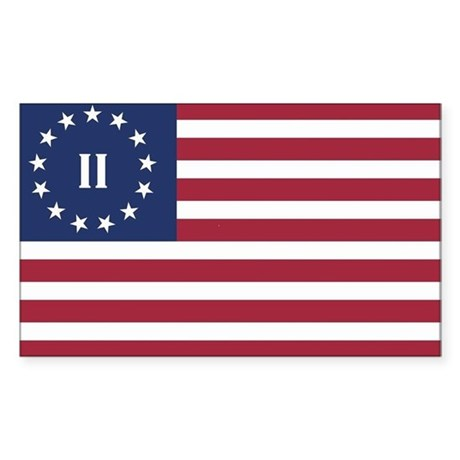 Flag of the Second American Revolution Sticker