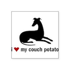 I Love my Couch Potato Whippet Sticker