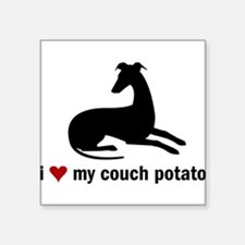 I Love my Couch Potato Whippet Sticker