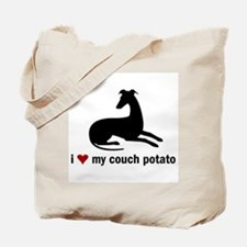 I Love my Couch Potato Whippet Tote Bag
