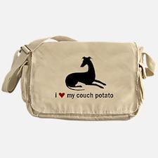 I Love my Couch Potato Whippet Messenger Bag