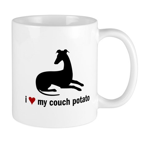 I Love my Couch Potato Whippet Mug