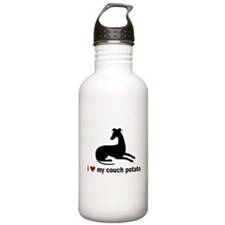 I Love my Couch Potato Whippet Water Bottle