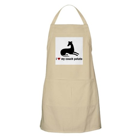 I Love my Couch Potato Whippet Apron
