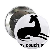 """I Love my Couch Potato Whippet 2.25"""" Button"""