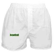 KANSAS IN MARIJUANA FONT Boxer Shorts