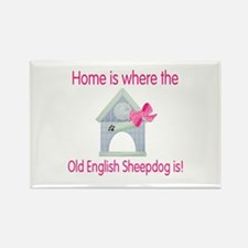 Home...Old English Sheepdog is Rectangle Magnet (1
