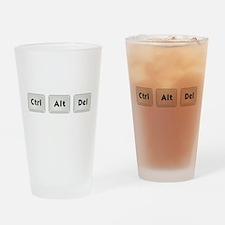 Ctrl Alt Del Drinking Glass