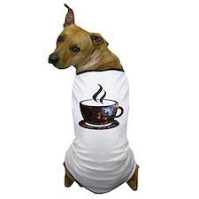 Cosmic Coffee Cup Dog T-Shirt