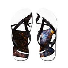 Cosmic Coffee Cup Flip Flops