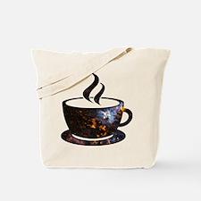 Cosmic Coffee Cup Tote Bag