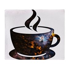 Cosmic Coffee Cup Throw Blanket