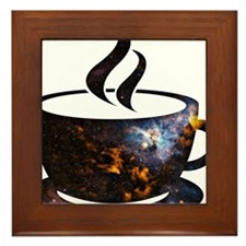 Cosmic Coffee Cup Framed Tile