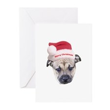 Staffordshire Bull Terrier Puppy Greeting Cards (P