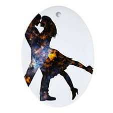 Cosmic Couple Ornament (Oval)