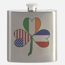 Shamrock of France Flask