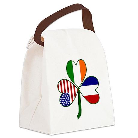 Shamrock of France Canvas Lunch Bag