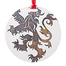 Textured Lion Ornament