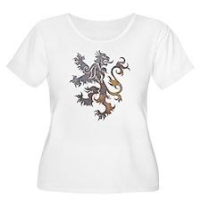 Textured Lion Plus Size T-Shirt