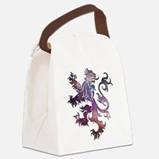 Cosmic Heraldry Lion Canvas Lunch Bag