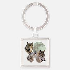 3 Wolf Moon Keychains