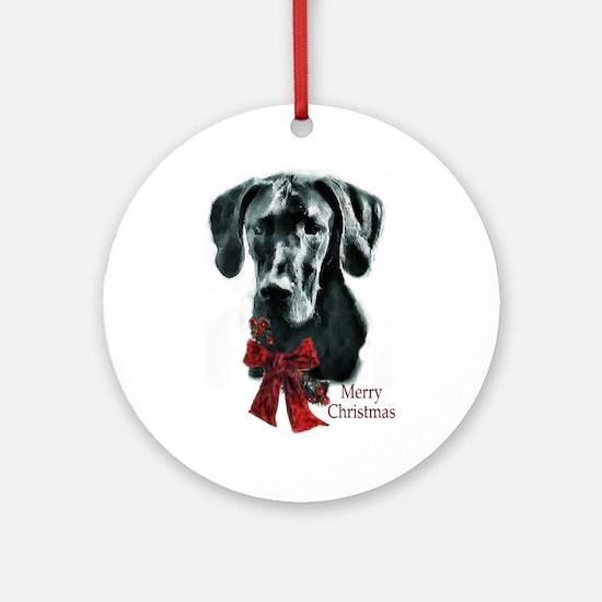 Great Dane Christmas Ornament (Round)