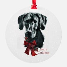 Great Dane Christmas Round Ornament