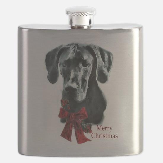 Great Dane Christmas Flask