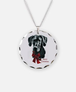 Great Dane Christmas Necklace