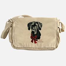 Great Dane Christmas Messenger Bag