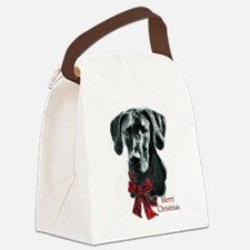Great Dane Christmas Canvas Lunch Bag