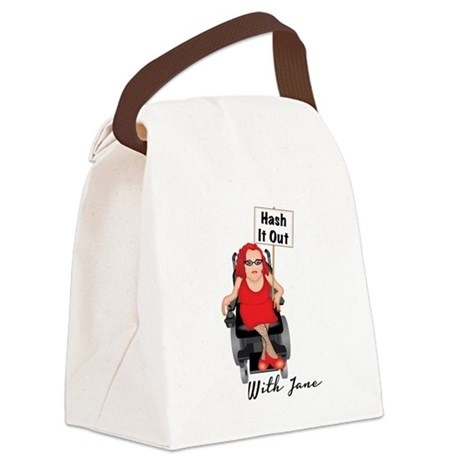 HASH IT OUT WITH JANE Canvas Lunch Bag