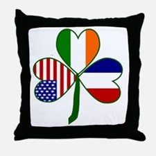 Shamrock of France Throw Pillow