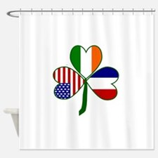 Shamrock of France Shower Curtain