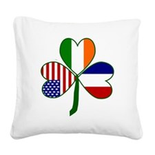Shamrock of France Square Canvas Pillow