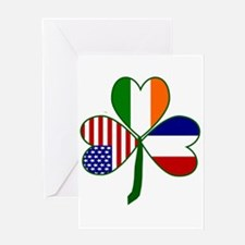 Shamrock of France Greeting Card