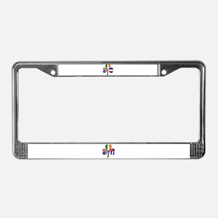 Shamrock of France License Plate Frame