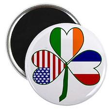 """Shamrock of France 2.25"""" Magnet (100 pack)"""