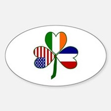 Shamrock of France Sticker (Oval)