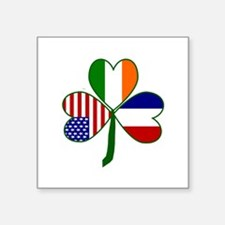 "Shamrock of France Square Sticker 3"" x 3"""