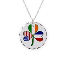 Shamrock of France Necklace Circle Charm