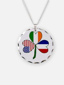Shamrock of France Necklace Circle Charm