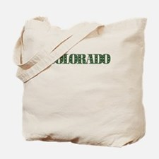 COLORADO IN MARIJUANA FONT Tote Bag