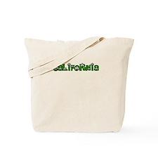 CALIFORNIA IN MARIJUANA FONT Tote Bag