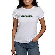 CALIFORNIA IN MARIJUANA FONT T-Shirt
