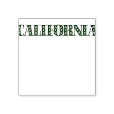 CALIFORNIA IN MARIJUANA FONT Sticker